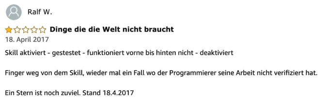 smart-home-system alexa skill test bewertung